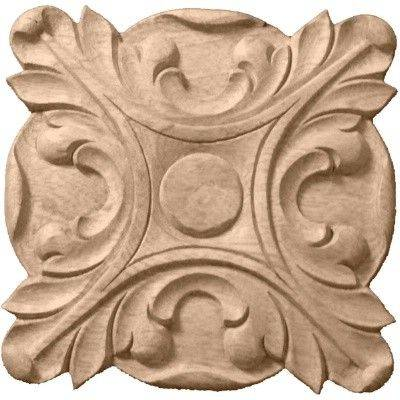 Chinese Solid wood carving rosette and Ornament, Cabinet Decorative Onlay