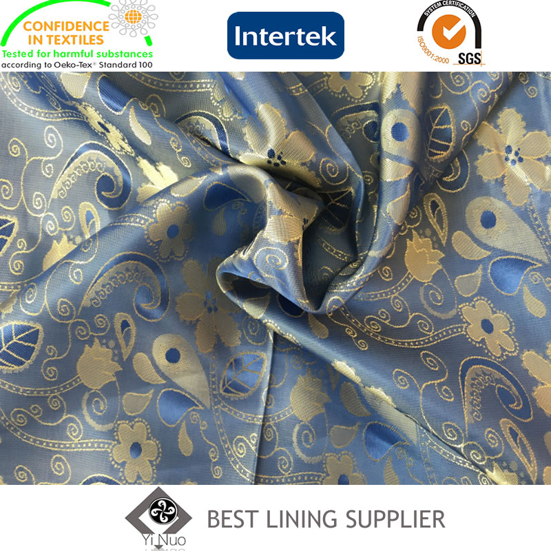 New T/R Mens Suit Jacket Jacquard Lining Fabric Manufacturer