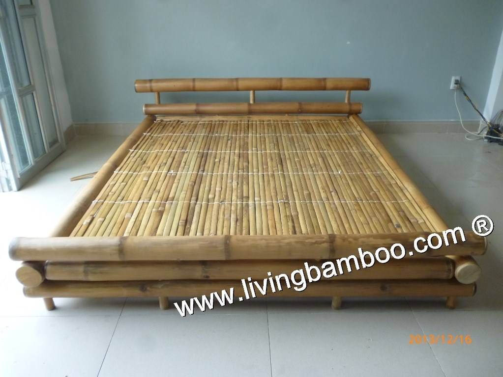 LION BAMBOO BED, BAMBOO FURNITURE