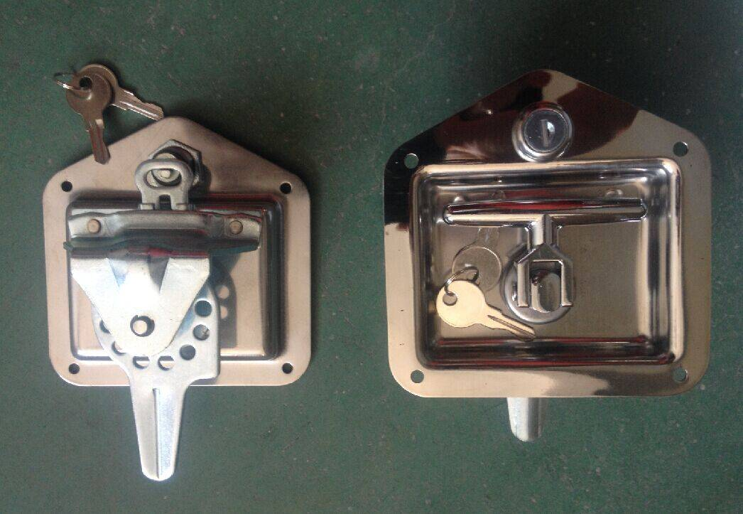 Stainless steel recessed T handle latch