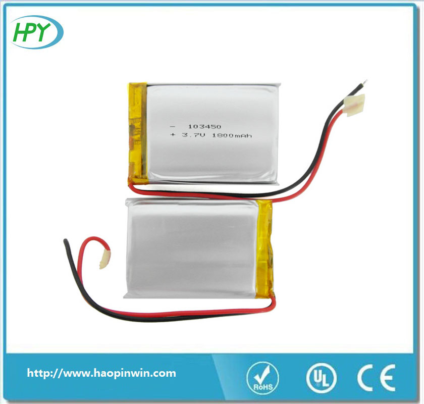 China factory KC approval 3.7V 1800mah li polymer battery cell 103450