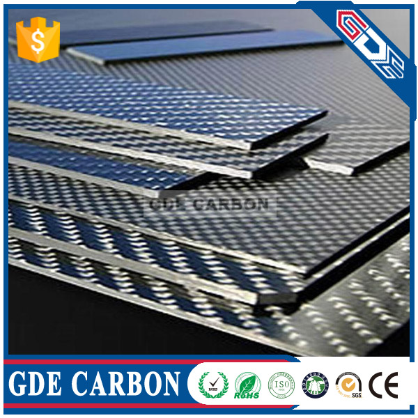 GDE Customized CNC Twill Carbon Fiber Sheet/Plate/Panel