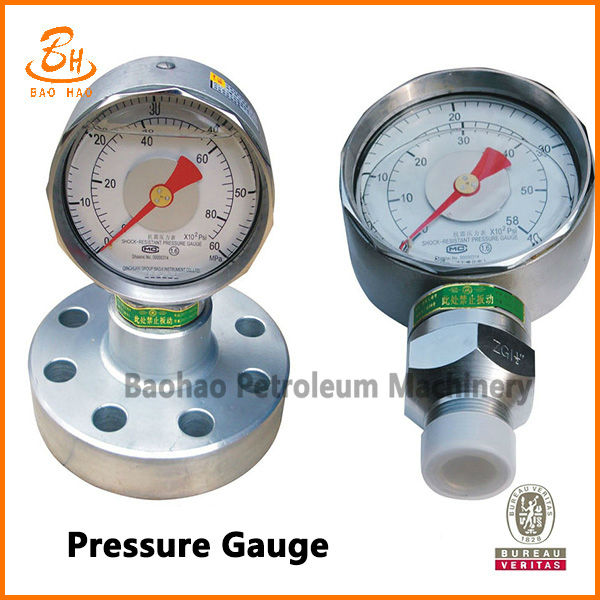 YK Pressure Gauge Of Mud Pump Spare Parts