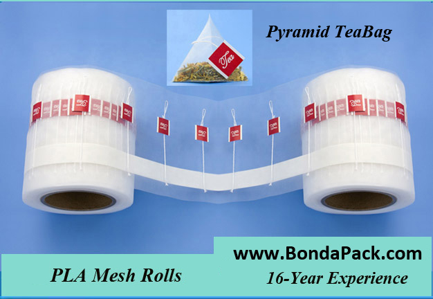 chinese tea and pyramid tea bag packaging materials for packing machine