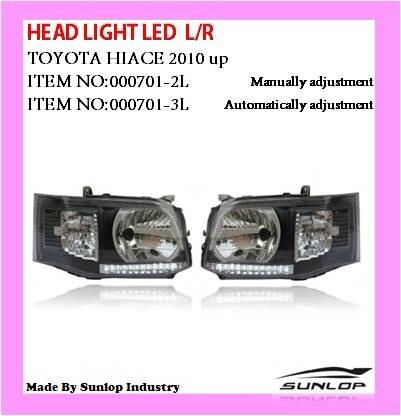 Head Light LED L/R for New Toyota Hiace body parts 2010-2013