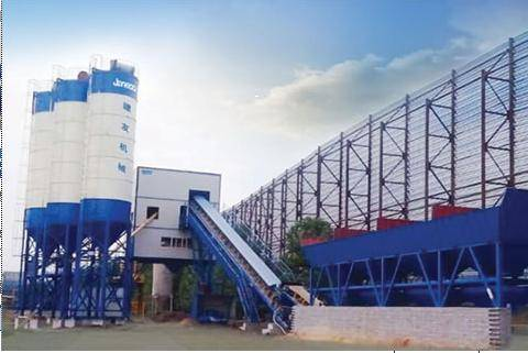 Environment  Friendly Containerized Concrete Mixing Plant