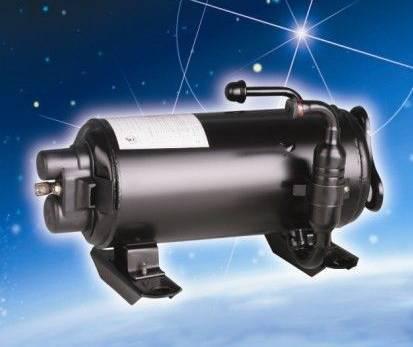 Horizontal ac compressor