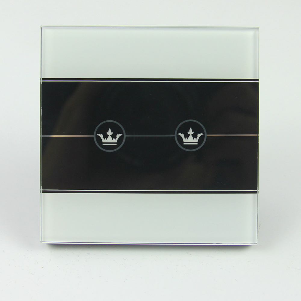 Tempered and Pattern Printed Glass Switch Touch Panel