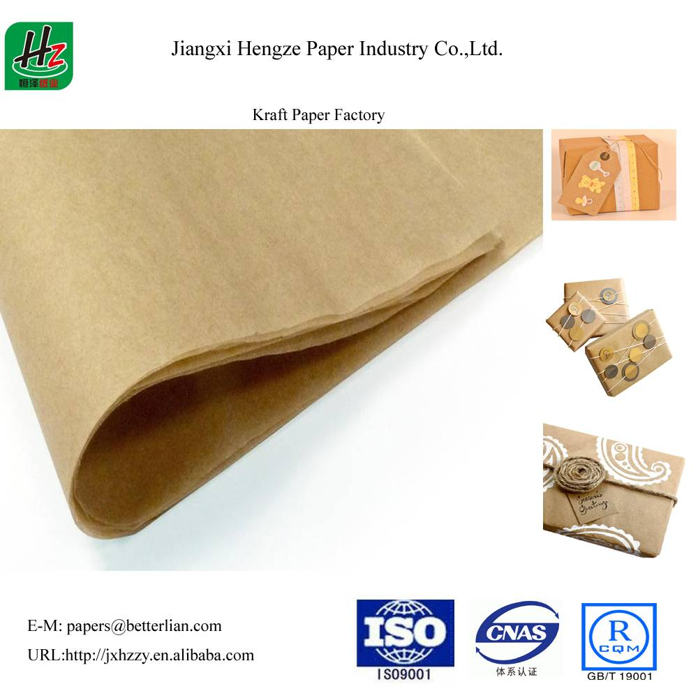 Unbleached uncoated 58gsm packaging kraft paper
