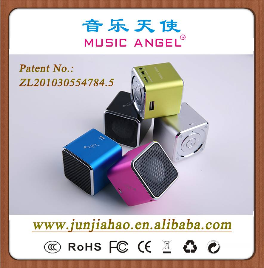 MUSIC ANGEL mini speaker original factory JH-MD07U FM USD speaker made in China