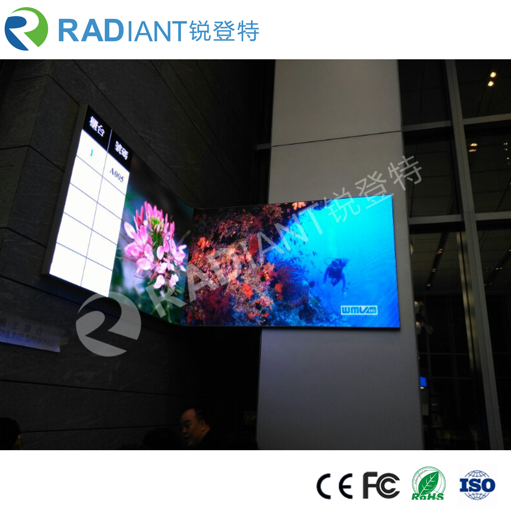 P4 indoor advertising cylinder and soft flexible led screen