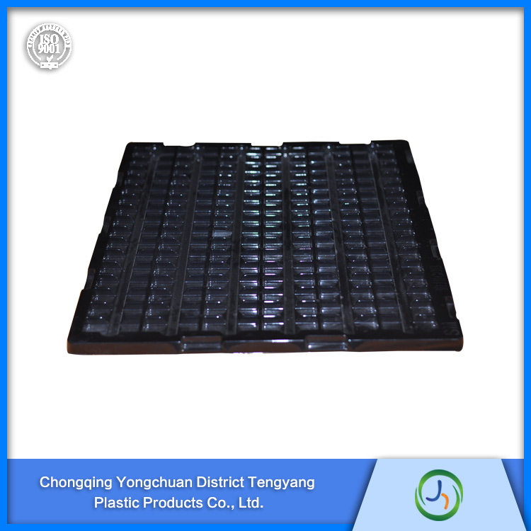 Popular Different Size ESD Black Plastic PS PP Electronics Blister Tray