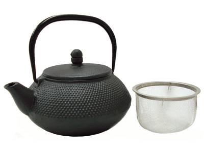 Enamel Cast Iron Black Round Kettle 0.5-Qt