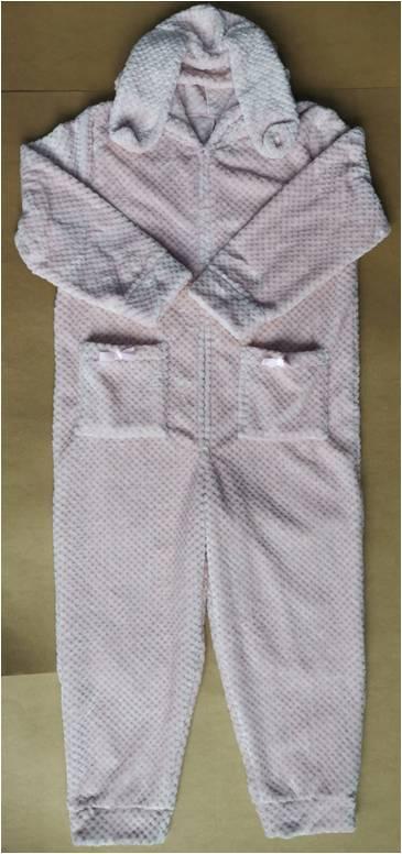 Ladies Jacquard Fleece Siamesed Pajamas