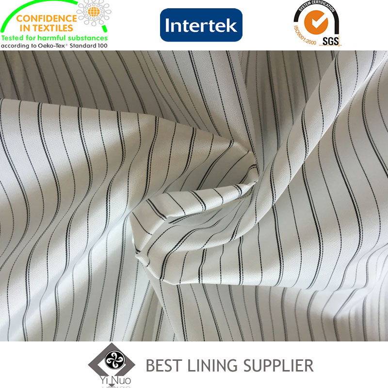 Polyester Mens Suit Black and White Sleeve Lining Fabric