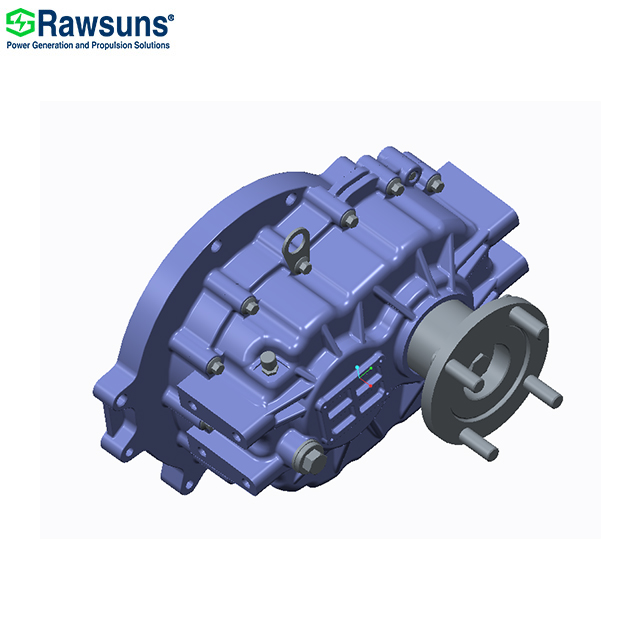 Rawsuns NEW reducer 350Nm 12000rpm parallel shaft gear box ratio 3.043 reductor ev gearbox for 4.5 t