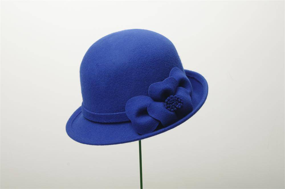 Customize Ladies Bucket Wool Felt Hat (FW004086)