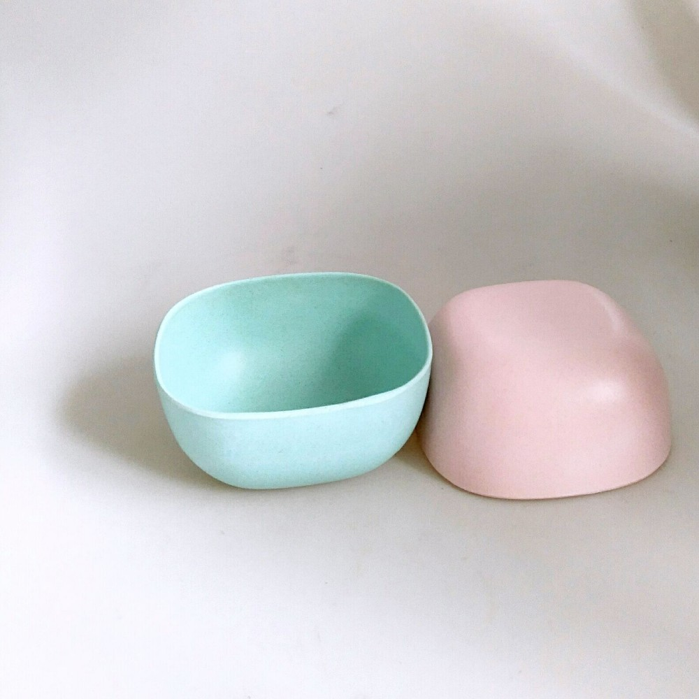 100% Bamboo Fiber Dinnerware Colorful Biodegradable Salad Bowl
