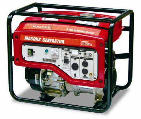 Masons Portable Gas Generators 2200watts with Honda Engine CE Approved