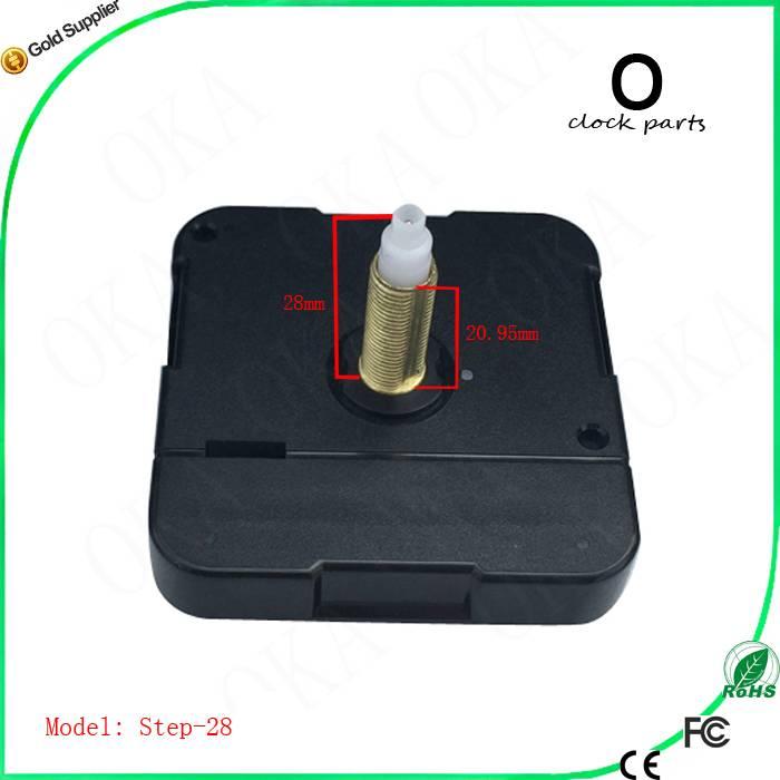 High quality long shaft quartz clock movement with battery cover clock motor step movement clockwork