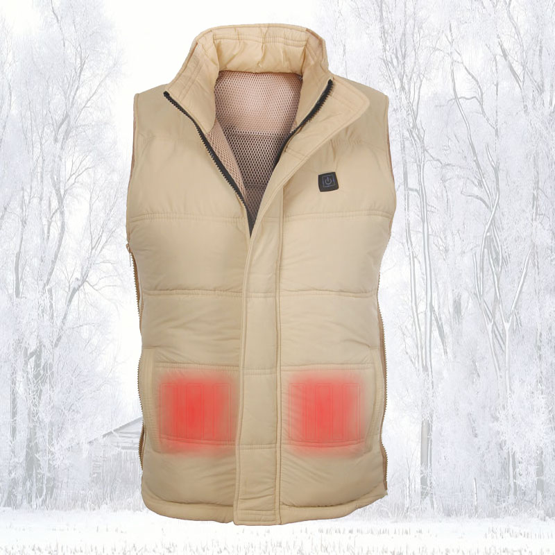 Man Top Clothing Outdoor Battery Heating Puffer Vest Wholesale