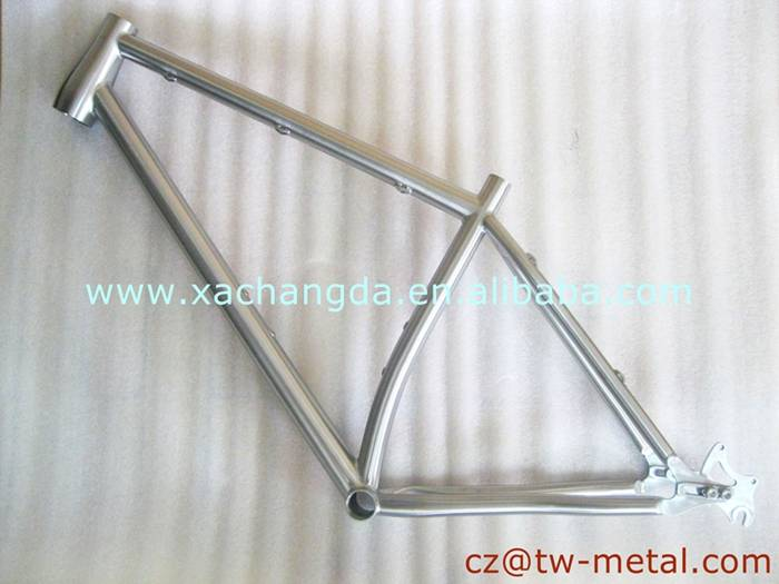 Customized titanium mountain bicycle frame Ti mtb bike frame with sliding dopouts