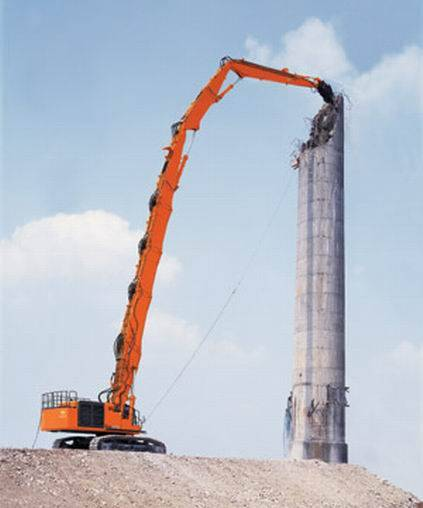 excavator Demolition boom