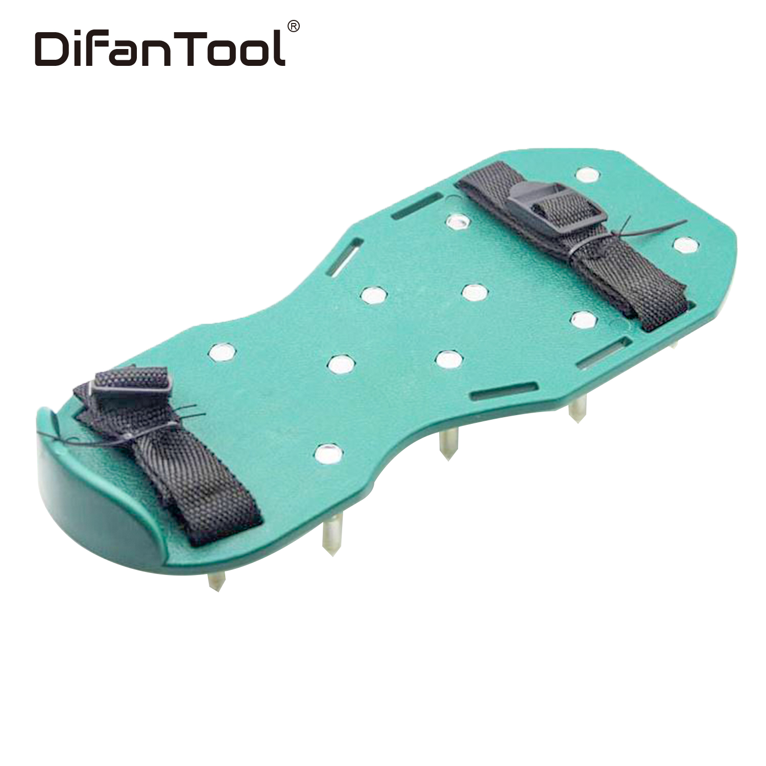 Difanmax One Pair Rigid Spiked Shoes for Epoxy Ardit Self Leveling Floors Aeration Latex