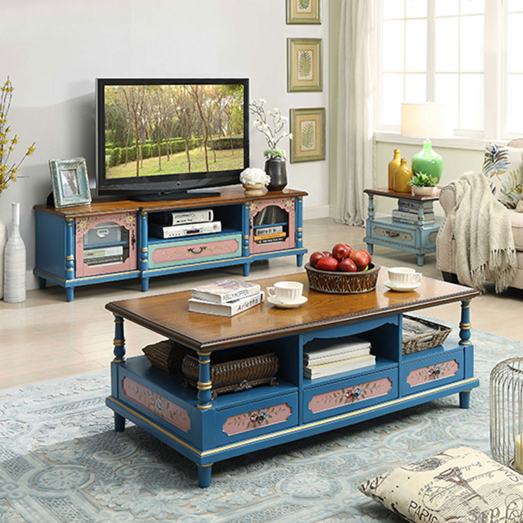 floral furniture antique wooden tv stand
