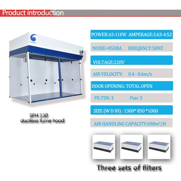 Ductless Chemical Fume Cupboard with Carbon Filter SFH130