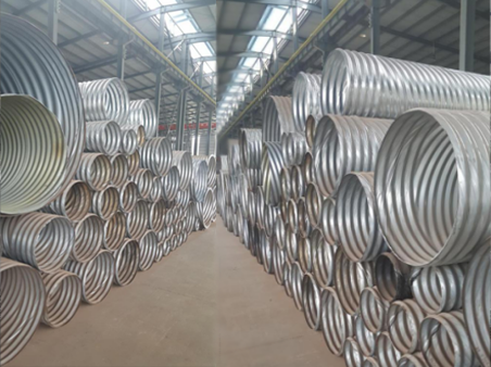 Rolled corrugated metal pipeCorrugated Culvert Pipemetal corrugated culvert pipe