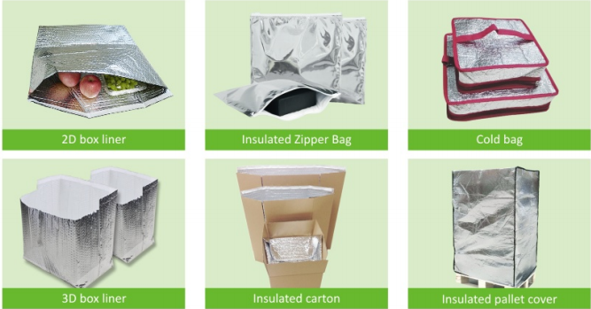 Insulated EPE Foam Foil Bag For Frozen Food Delivery