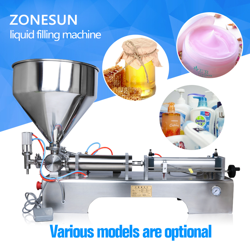 ZONESUN (10-300ml) liquid filling machine(pneumatic liquid filler for oil, water, juice, honey, soap