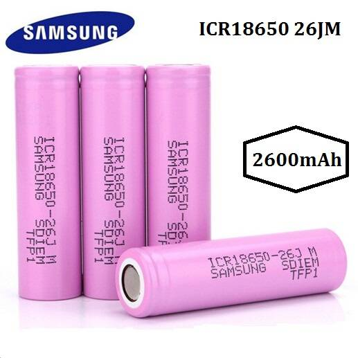 Authentic Samsung SDI 18650 26JM 2600mAh Li-ion Rechargeable Battery