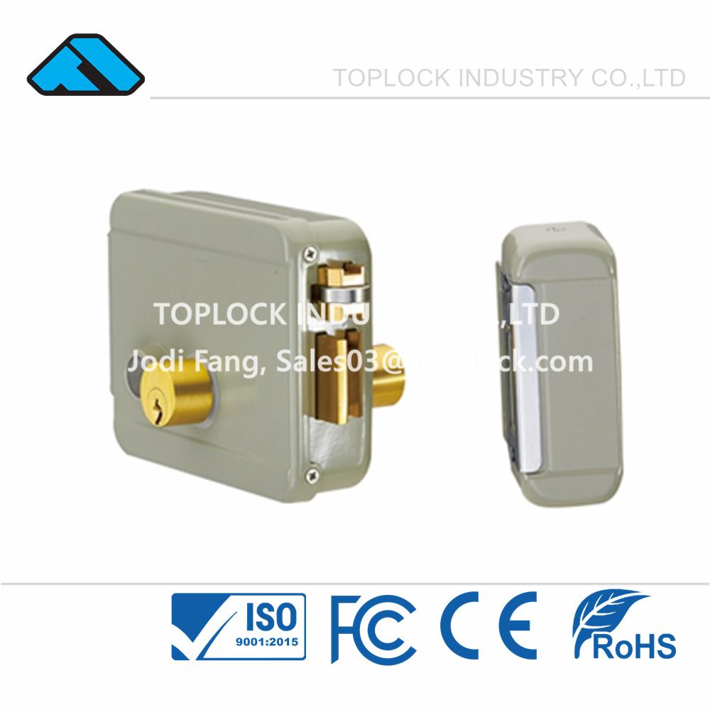 12V Elettrika - Electric Rim Lock Yale Grey Color Double-end Cylinder