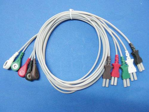 Spacelab one piece ECG cable with leadwires