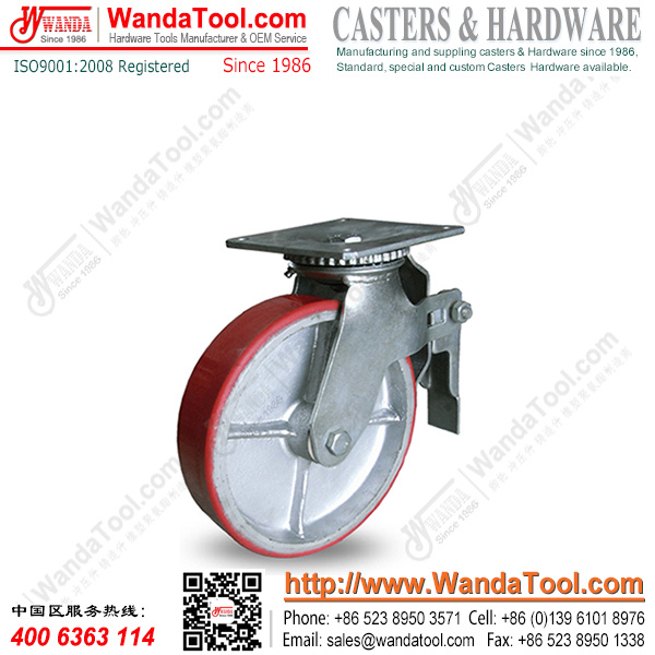 8 In. Top plate Scaffolding Caster with Moldon Polyurethane wheel