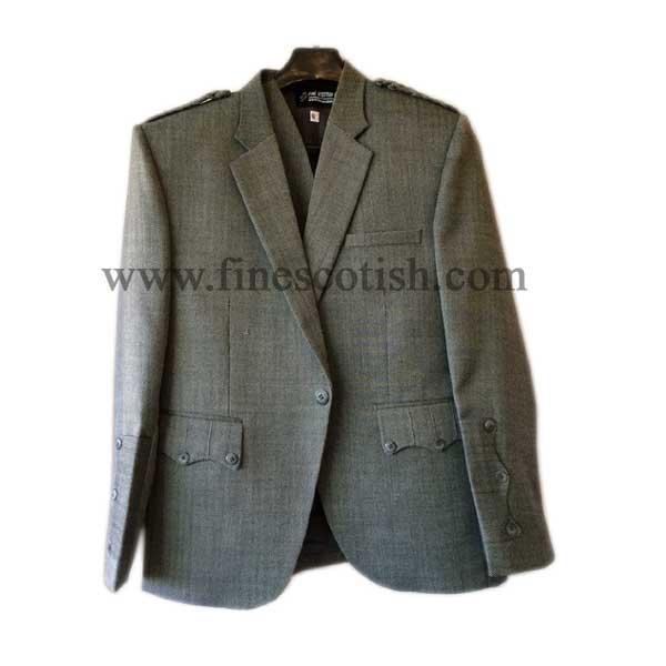 Tweed Argyle/Argyll Jacket & Vest/Waistcoat, Kilt Jacket