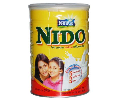 Arabic and English Text Nestle Nido Milk