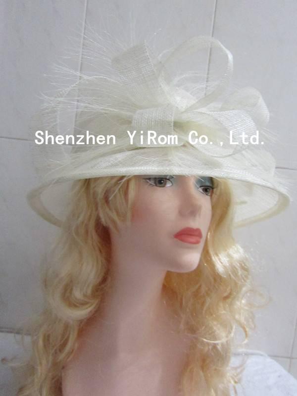 YRSM14079 sinamay hat, church hat,wedding hat,derby hat,race hat,bridal hat