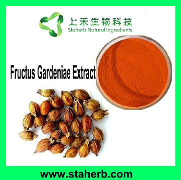 Jasminoidin 25% or Gardenoside 25% of Gardenia extract