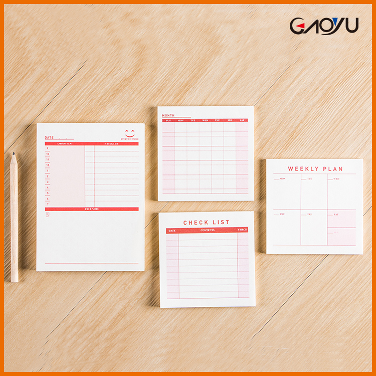Recycled paper square lined cute agenda organizer calendar monthly weekly daily schedule planner
