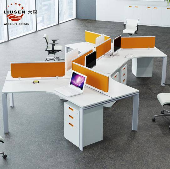 Modern Design 6 People Office Workstation and office cubicle workstation (LS-PF-0210)
