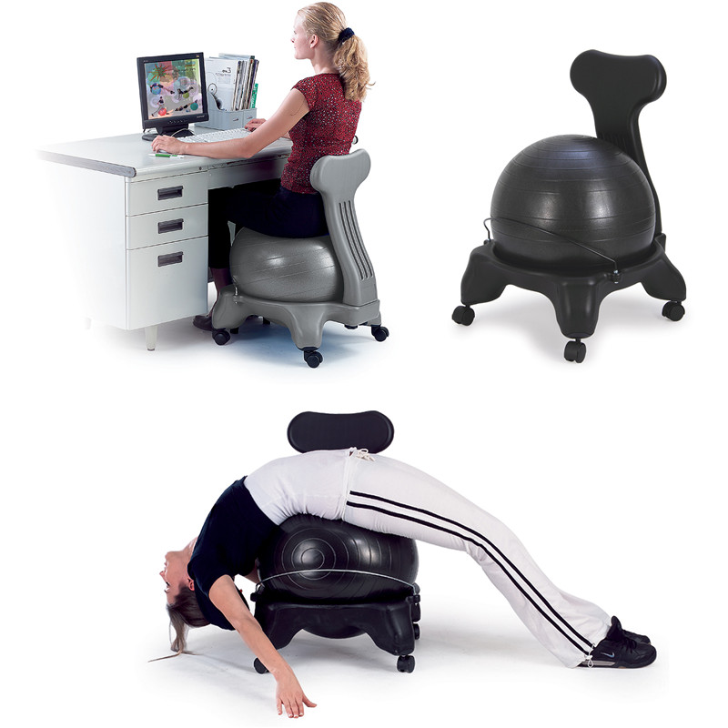 Sitting On Balance Ball Trainer With Chair