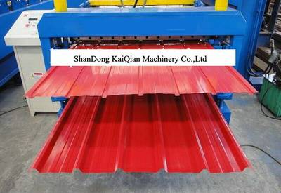 Color Steel Corrugated Roofing Sheet Roll Forming Machine For Metal Roofing Tile