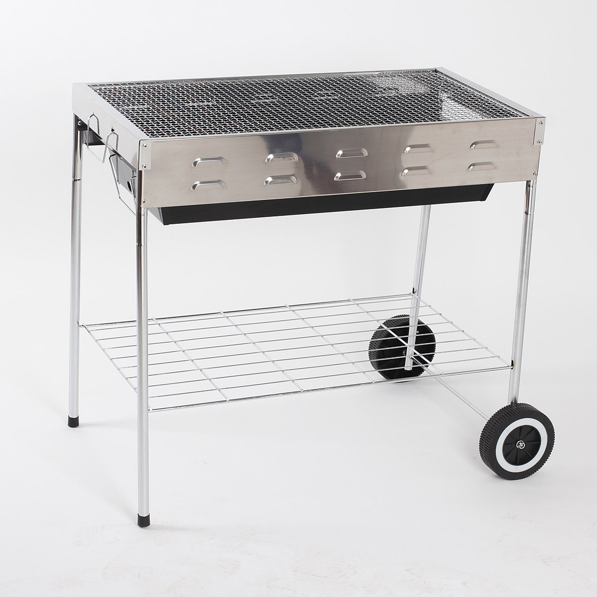 Movable stainess steel outdoor bbq charcoal grill