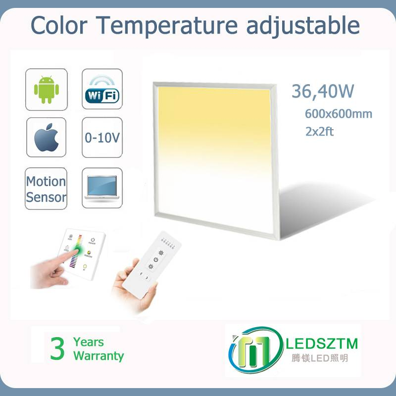 color temperature adjustable led pane light 18W 24W 40W 72W