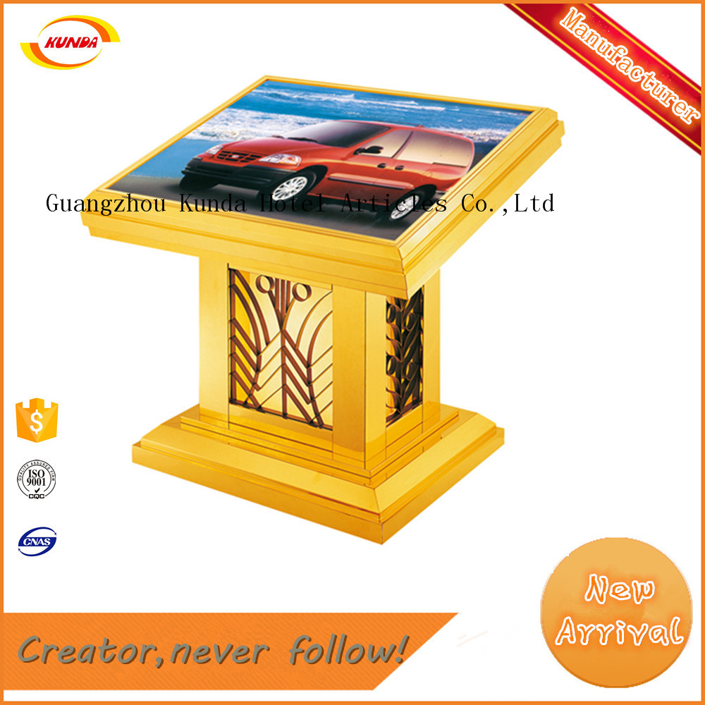 hotel lobby sign stand dispay ground lamp box Kunda DT-02