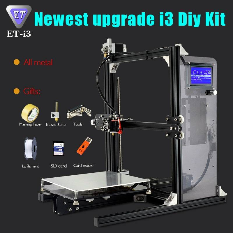 3D Printer FDM Desktop DIY Model Prusa I3 China Factory Direct Sale
