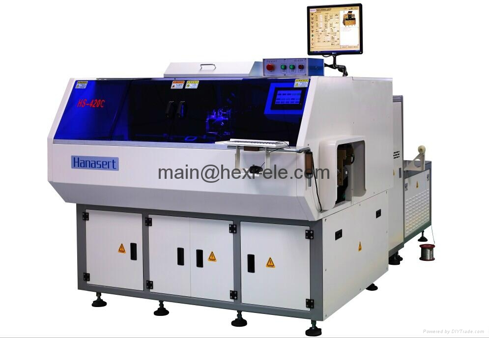 Axial component inserting machine